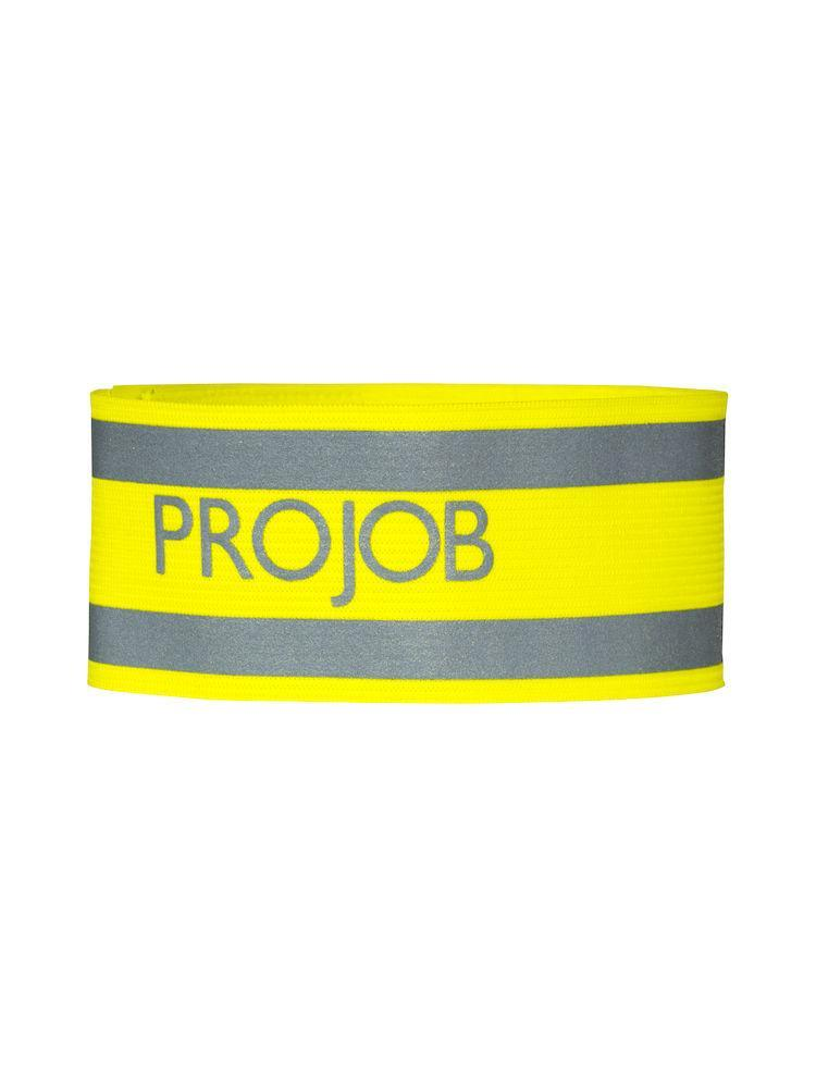 649040 Projob Workwear Elastic Reflective Stretch Safety Band In Hi Vis Yellow