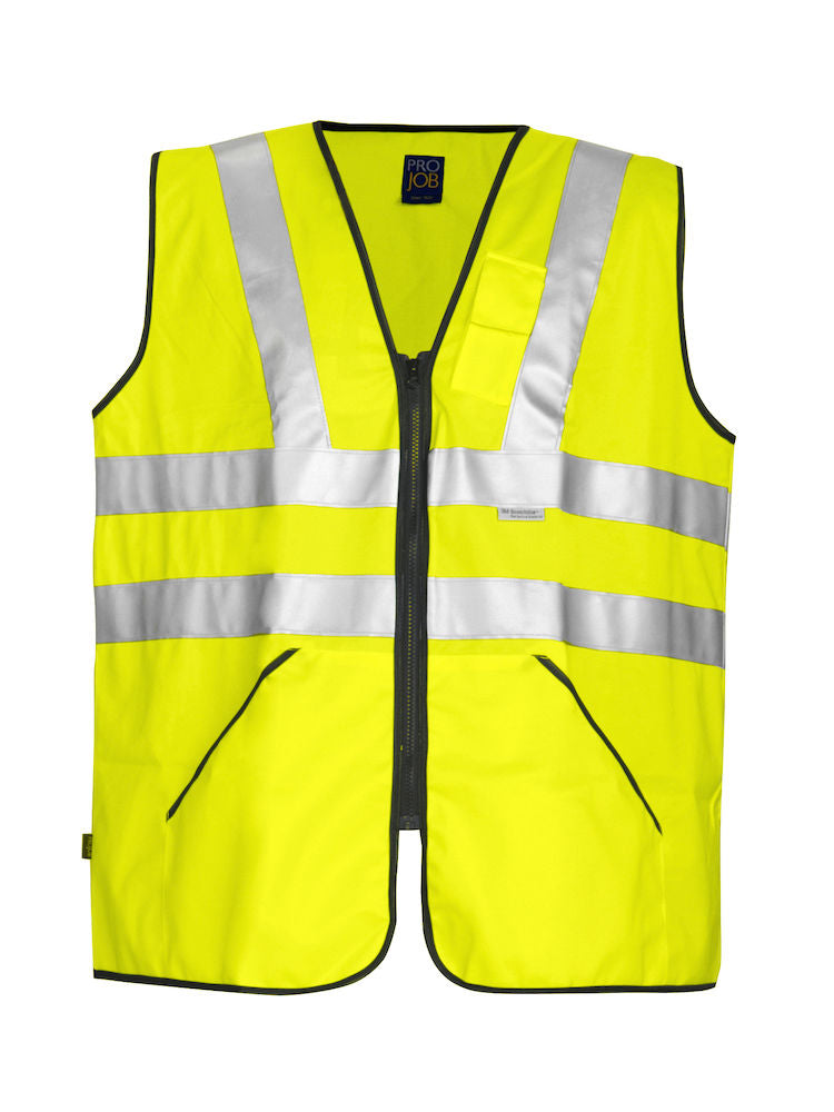 646702 Projob Adjustable Zipped Vest Hi Vis EN471-Class 3