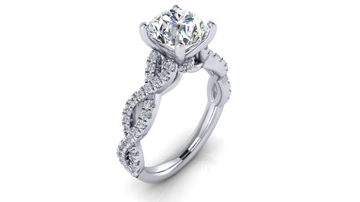 1.5 Carat Infinity Round Brilliant Diamond Engagement Ring angelucci-jewelry