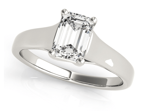 4 Emerald cut Solitaire Diamond Engagement Ring with Trellis Setting angelucci-jewelry