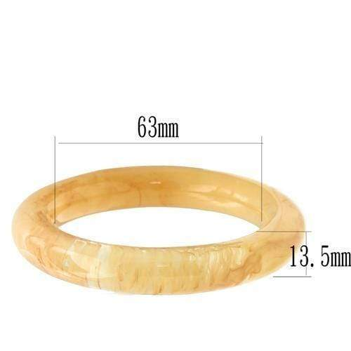 "Bangle 7.25"" VL048 N/A Resin Bangle with No Stone in Orange angelucci-jewelry"