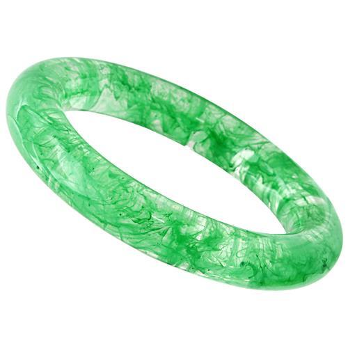 "Bangle 7.25"" VL051 N/A Resin Bangle with No Stone in Emerald angelucci-jewelry"