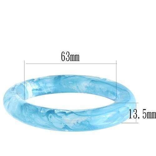 "Bangle 7.25"" VL052 N/A Resin Bangle with No Stone in Capri Blue angelucci-jewelry"