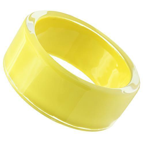 "Bangle 8"" VL042 N/A Resin Bangle with Synthetic in Citrine Yellow angelucci-jewelry"