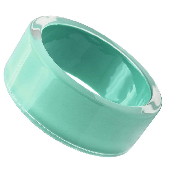 "Bangle 8"" VL044 N/A Resin Bangle with Synthetic in Emerald angelucci-jewelry"