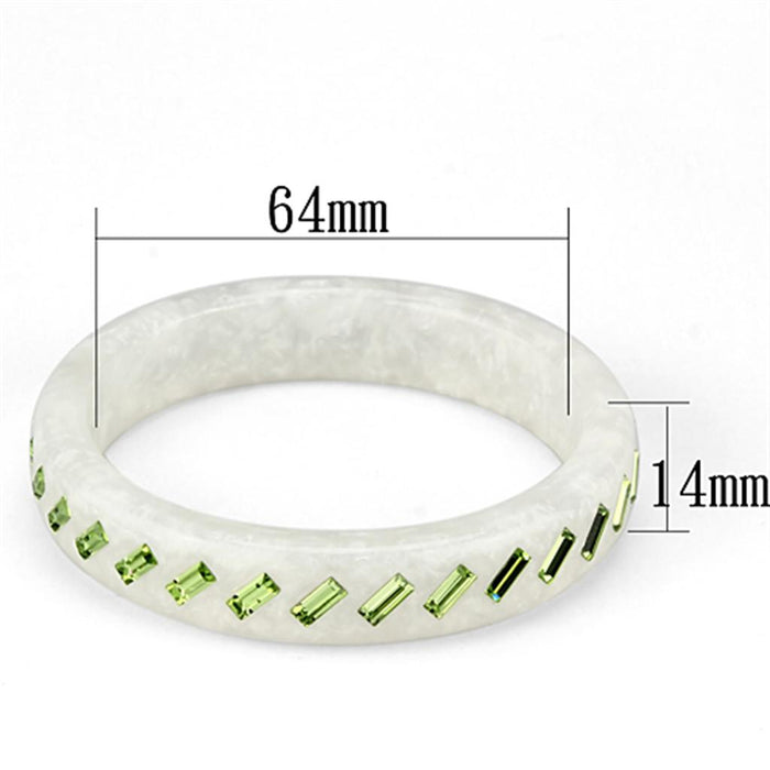 "Bangle 8"" VL093 N/A Resin Bangle with Top Grade Crystal in Peridot angelucci-jewelry"