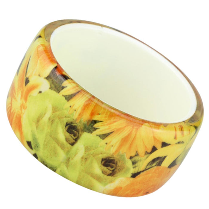 "Bangle 8"" VL123 N/A Resin Bangle with No Stone in Multi Color angelucci-jewelry"