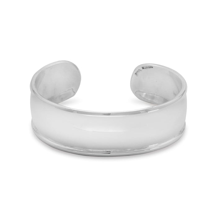 Bracelets 19mm Cuff with Polished Edge angelucci-jewelry
