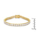 Bracelets Princess Cut CZ Gold Tone Tennis Bracelet angelucci-jewelry