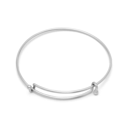 Bracelets Silver Tone Expandable Wire Fashion Bangle angelucci-jewelry