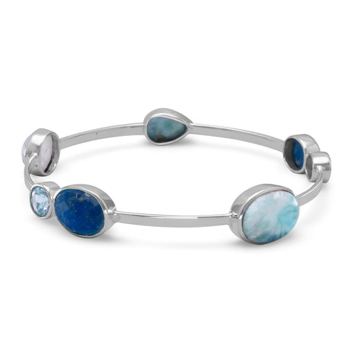 Bracelets Stackable Multistone Bangle angelucci-jewelry