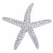 Brooches Silvertone Clear Crystal Starfish angelucci-jewelry