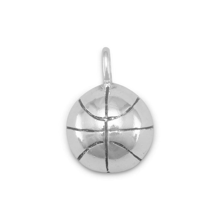 Charms 1/2 Round Basketball Charm angelucci-jewelry