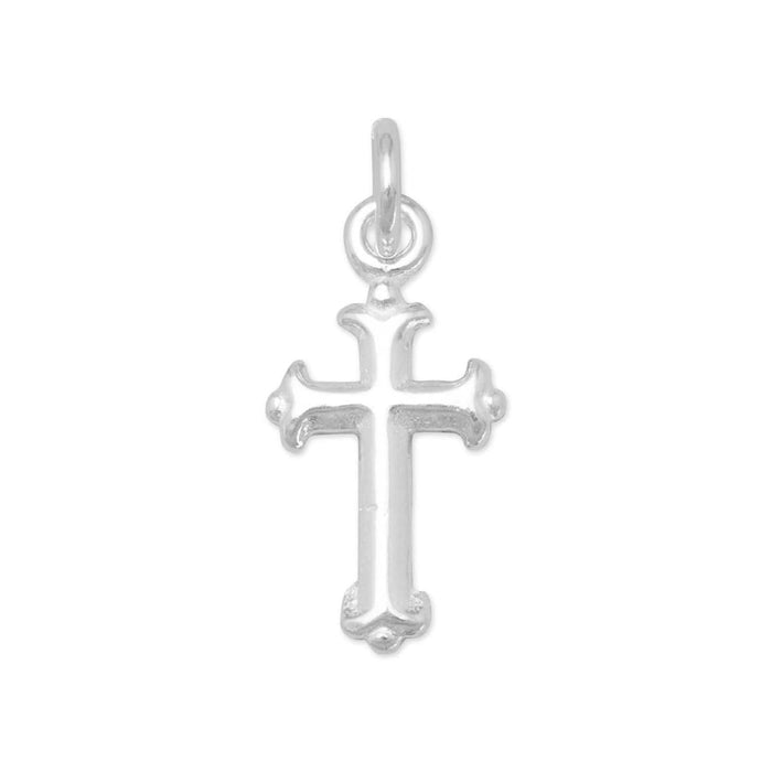 Charms Extra Small Silver Cross Charm angelucci-jewelry