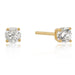 Earrings 4mm New Sterling Round Cut Cubic Zirconia Studs Gold angelucci-jewelry