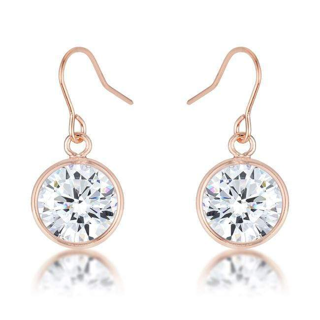 Earrings 5.5 Ct Rose Gold CZ Drop Earrings angelucci-jewelry