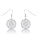 Earrings .95 Ct Interlocking Circle Rhodium and CZ Earrings angelucci-jewelry