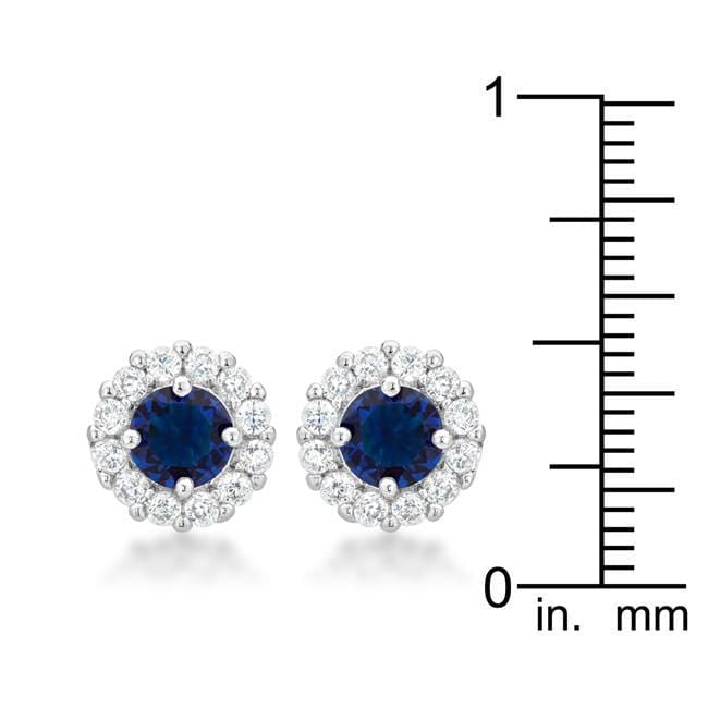 Earrings Bella Bridal Earrings in Blue angelucci-jewelry