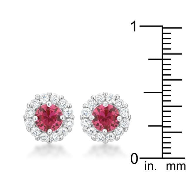 Earrings Bella Bridal Earrings in Pink angelucci-jewelry