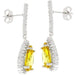 Earrings Canary Cubic Zirconia Drop Earrings angelucci-jewelry