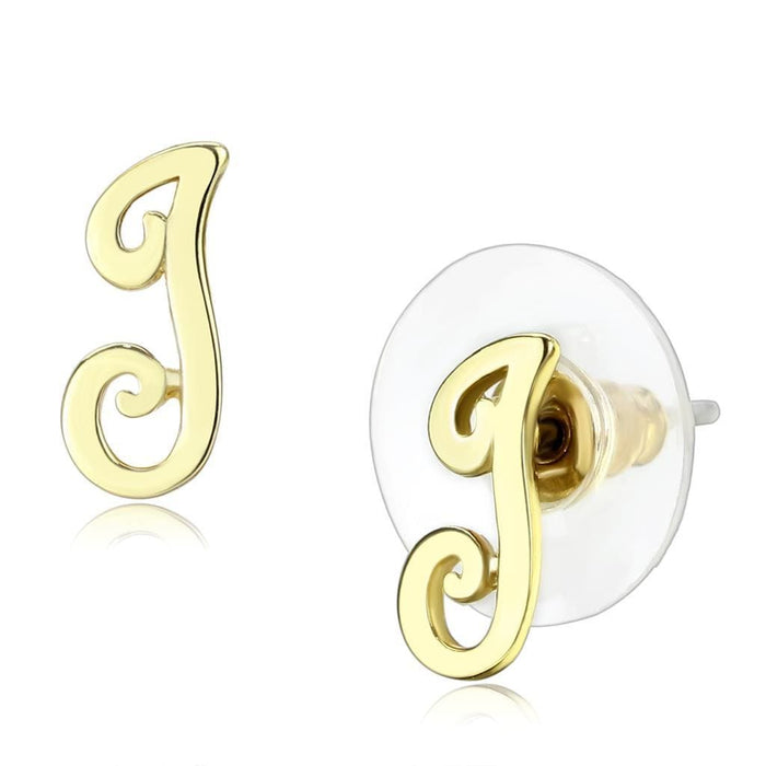 Earrings LO4668 Flash Gold Brass Earrings with No Stone in No Stone angelucci-jewelry