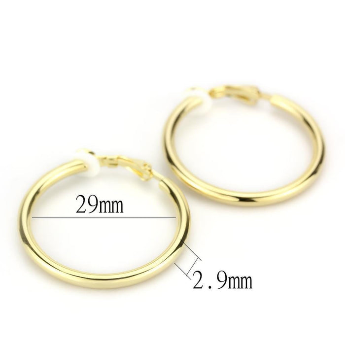 Earrings LO4682 Gold Brass Earrings with No Stone in No Stone angelucci-jewelry