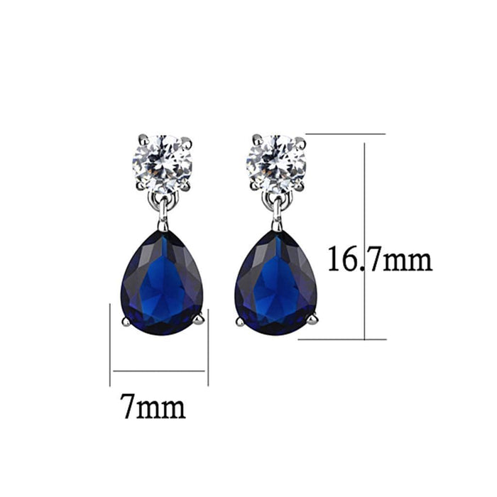 Earrings LO4684 Rhodium Brass Earrings with Synthetic in Montana angelucci-jewelry