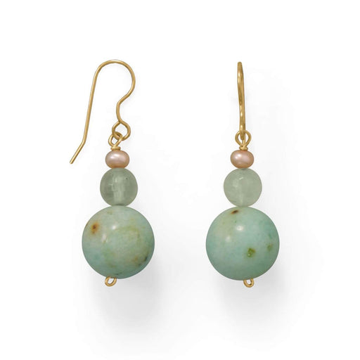 Earrings Minty Fresh Agate & Prehnite Earrings angelucci-jewelry