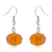 Earrings Orange Faceted Bead Earrings angelucci-jewelry