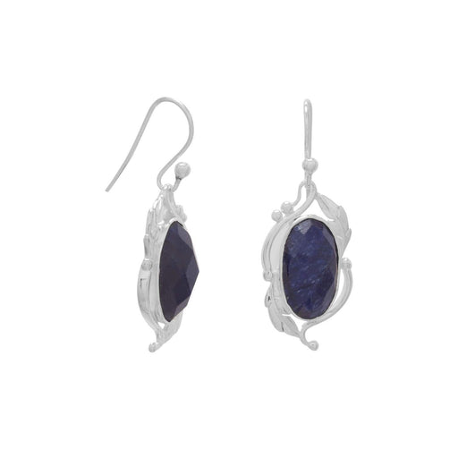 Earrings Oval Corundum Earrings angelucci-jewelry