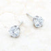 Earrings Reign 3.4ct CZ Rhodium Stainless Steel Stud Earrings angelucci-jewelry