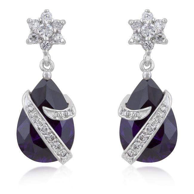 Earrings Royal Wrapped Amethyst Earrings angelucci-jewelry
