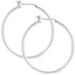 Earrings Silvertone Finish Hoop Earrings angelucci-jewelry