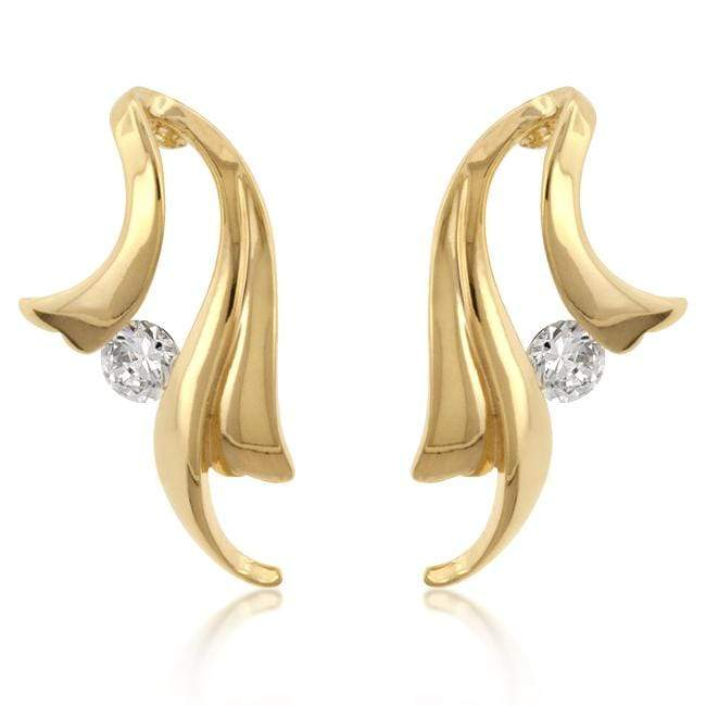 Earrings Solitaire Winged Earrings angelucci-jewelry