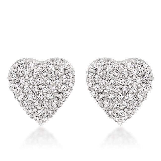 Earrings Special Pave Heart Earrings angelucci-jewelry
