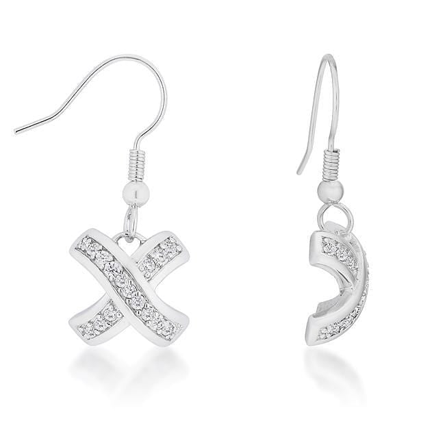 Earrings Timeless Pave Drop Earrings angelucci-jewelry