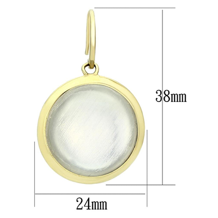 Earrings VL102 IP Gold(Ion Plating) Brass Earrings with Synthetic in Clear angelucci-jewelry