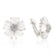 Earrings White Flower Nouveau Clip Earrings angelucci-jewelry