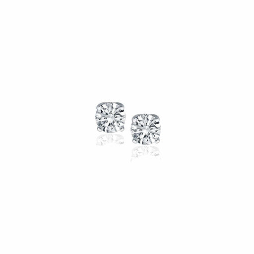 Earrings White gold 14k White Gold Diamond Four Prong Stud Earrings (1/4 cttw) angelucci-jewelry