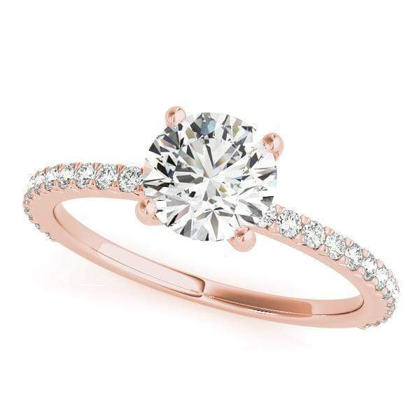 Engagement Rings 1 / 14kt / Pink Engagement Rings Single Row Prong Set angelucci-jewelry