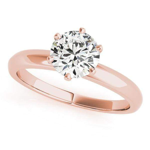 angelucci-jewelry-Round Brilliant Shape 14-Karat 6-Prong Solitaire Diamond Engagement Ring