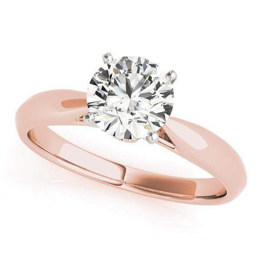 Engagement Rings 1 / 14kt / Pink Engagement Rings Solitaires Round angelucci-jewelry