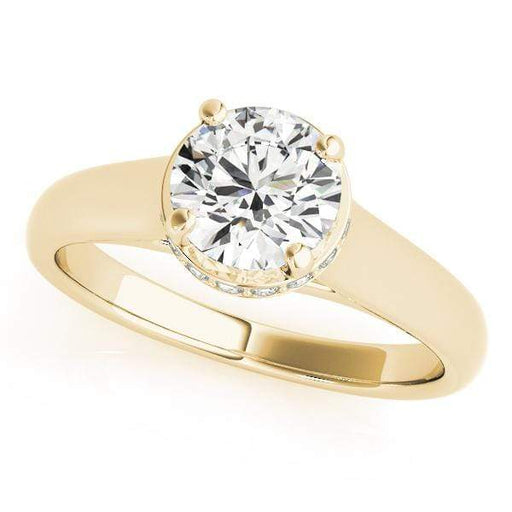 angelucci-jewelry-Round Brilliant Shape Trellis 14-Karat Hidden Halo Diamond Engagement Ring