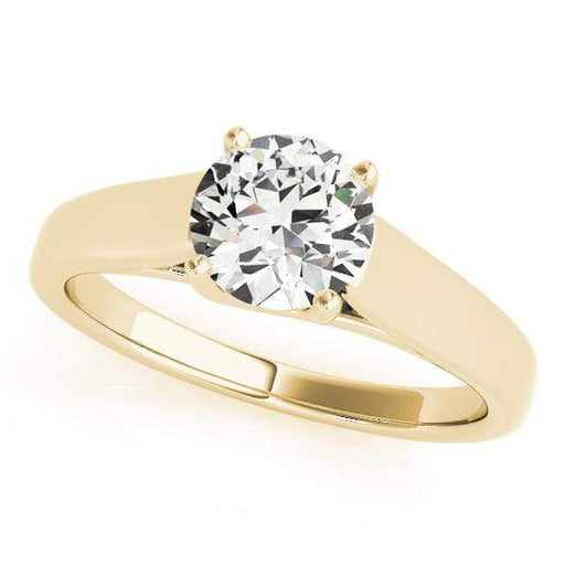 angelucci-jewelry-Round Brilliant Shape 14-Karat Trellis Solitaire Diamond Engagement Ring
