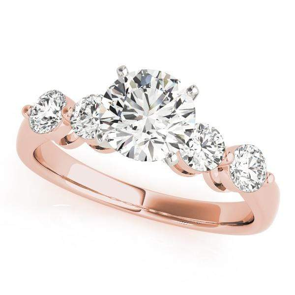 Engagement Rings 10 / 14kt / Pink Engagement Rings Single Row Prong Set angelucci-jewelry