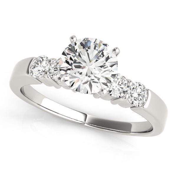 Engagement Rings 10 / 14kt / White Engagement Rings Single Row Prong Set angelucci-jewelry