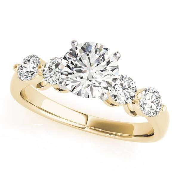 Engagement Rings 10 / 14kt / Yellow Engagement Rings Single Row Prong Set angelucci-jewelry