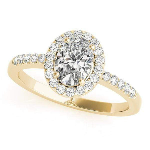 angelucci-jewelry-Large Oval Shape 14-Karat Pavé Halo Diamond Engagement Ring