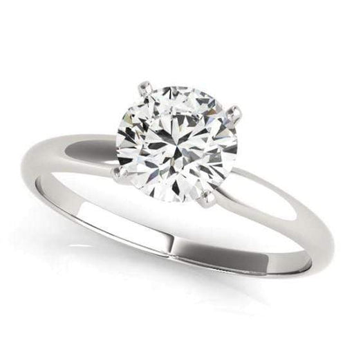 angelucci-jewelry-Round Brilliant Shape 14-Karat Die-Struck Solitaire Diamond Engagement Ring