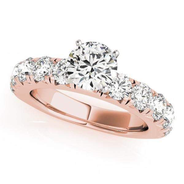 Engagement Rings .13 / 14kt / Pink Engagement Rings Single Row Prong Set angelucci-jewelry